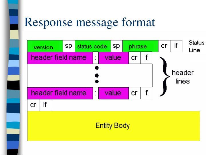 Response message format