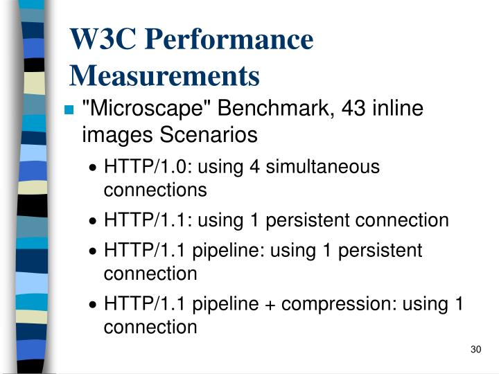 W3C Performance Measurements