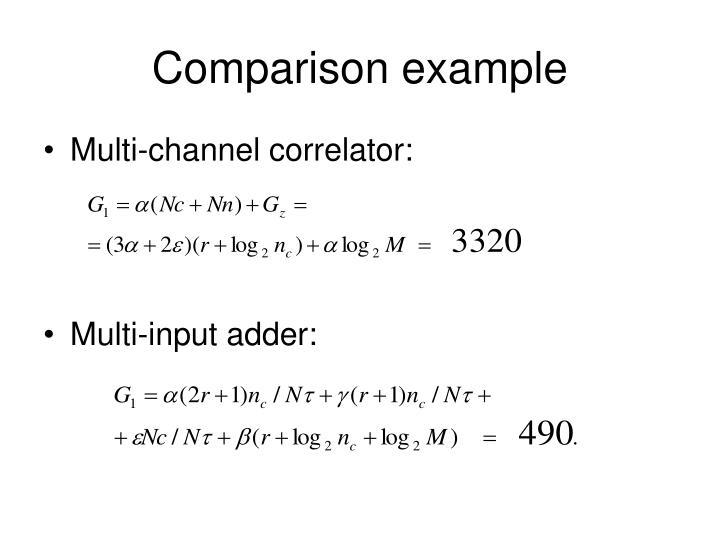 Comparison example