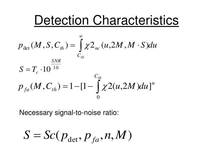 Detection Characteristics