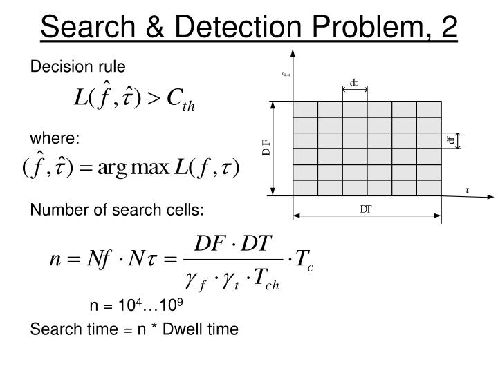 Search detection problem 2
