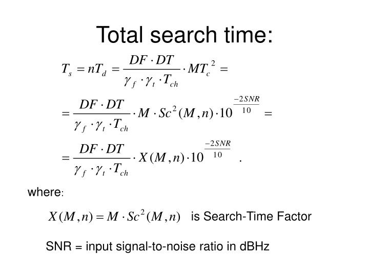Total search time: