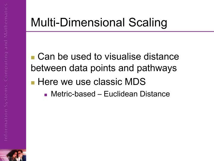 Multi-Dimensional Scaling
