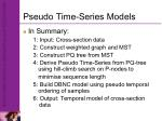 pseudo time series models1