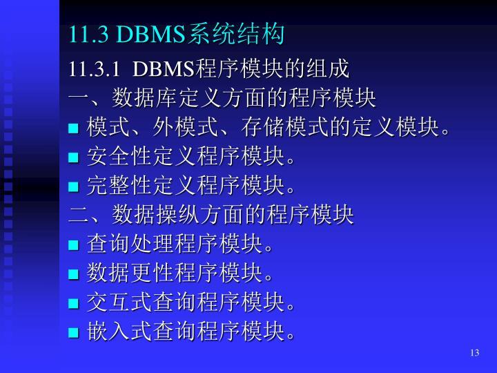 11.3 DBMS