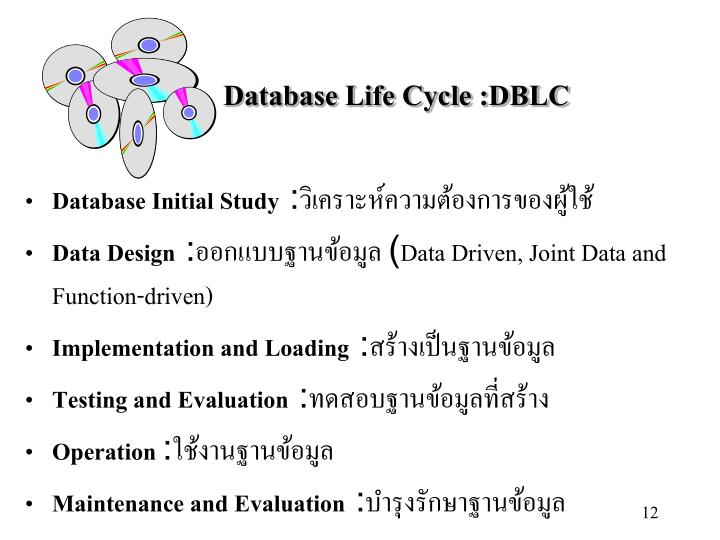 Database Life Cycle :DBLC