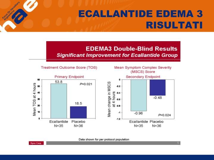 ECALLANTIDE EDEMA 3