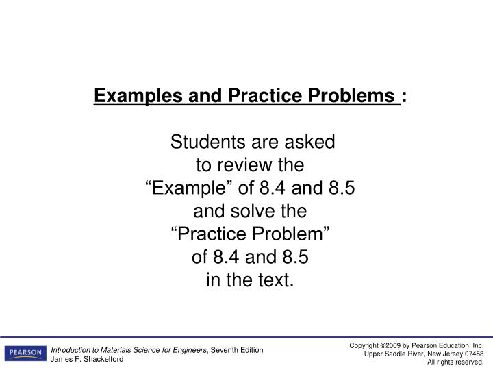 Examples and Practice Problems