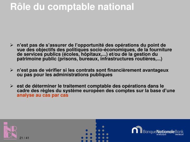 Rôle du comptable national