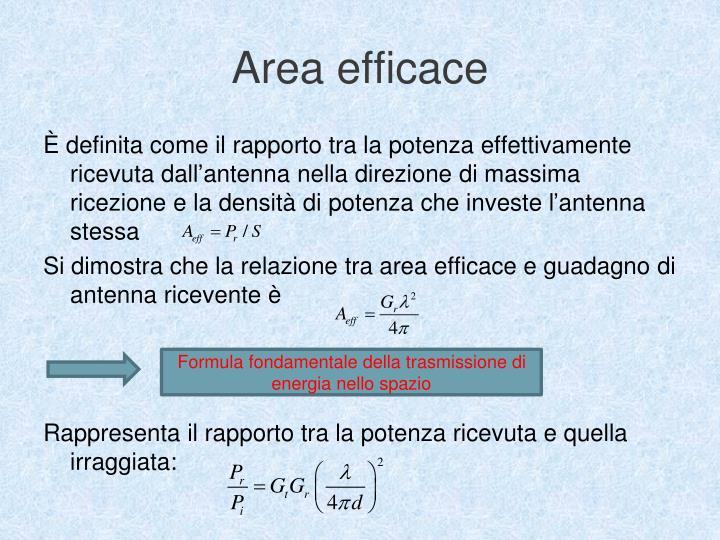Area efficace