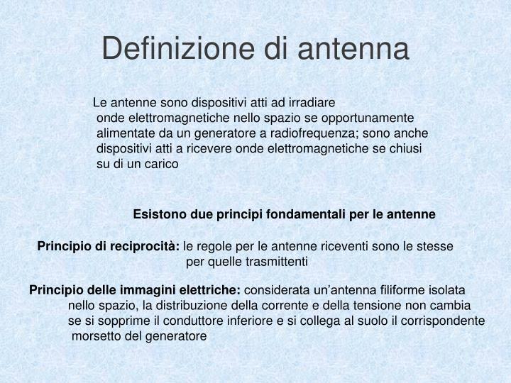 Definizione di antenna