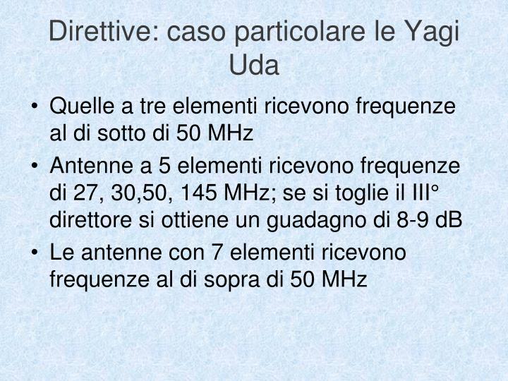 Direttive: caso particolare le Yagi Uda