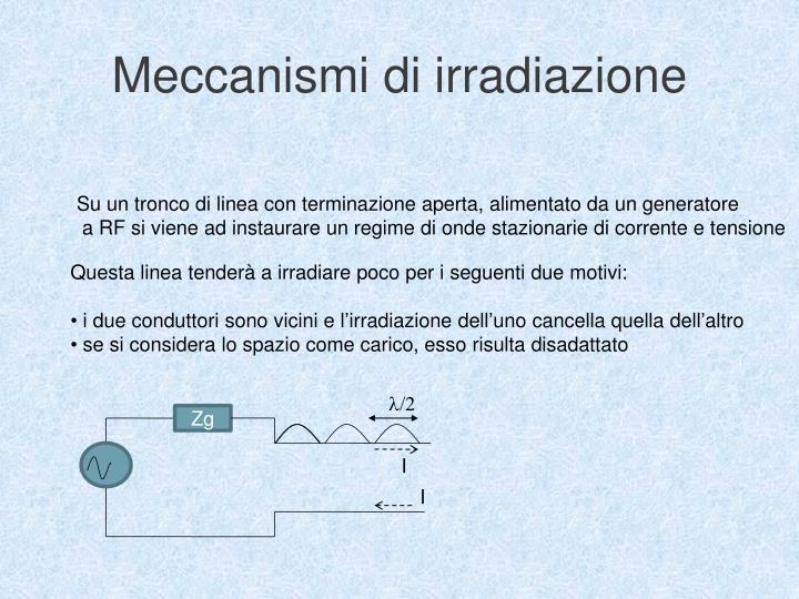 Meccanismi di irradiazione
