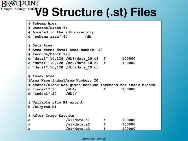 V9 Structure (.st) Files