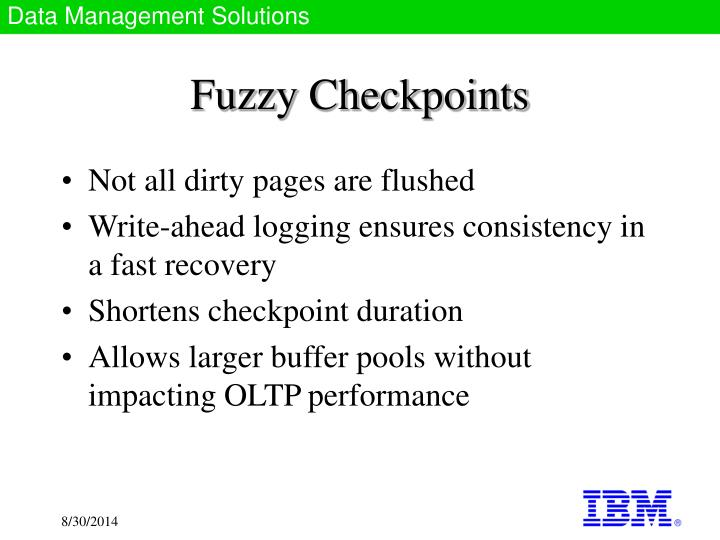 Fuzzy Checkpoints