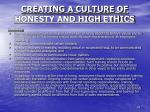 creating a culture of honesty and high ethics10