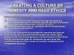 creating a culture of honesty and high ethics2