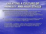 creating a culture of honesty and high ethics8