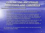 evaluating antifraud processes and controls2