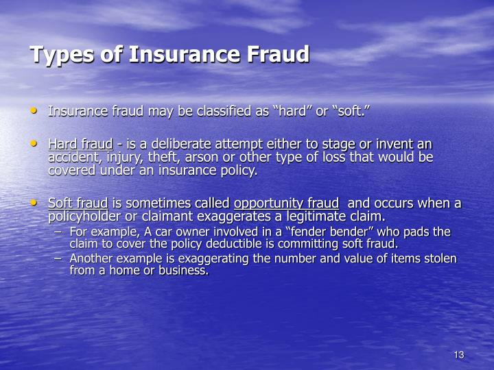 Types of Insurance Fraud