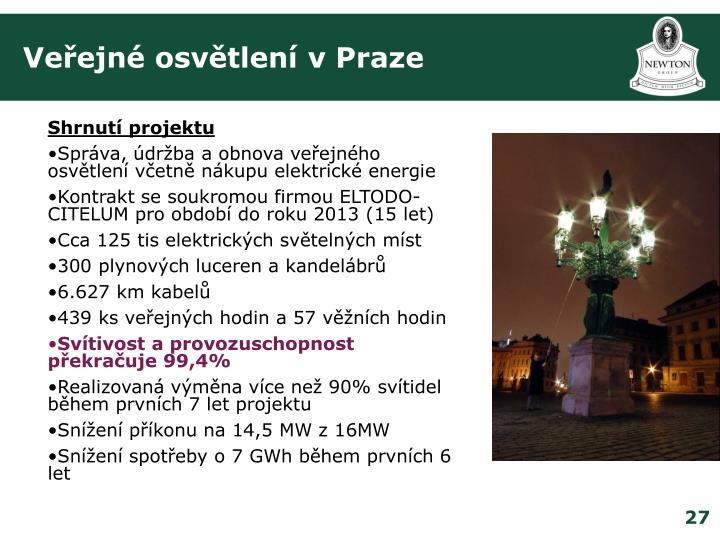 Veřejné osvětlení v Praze