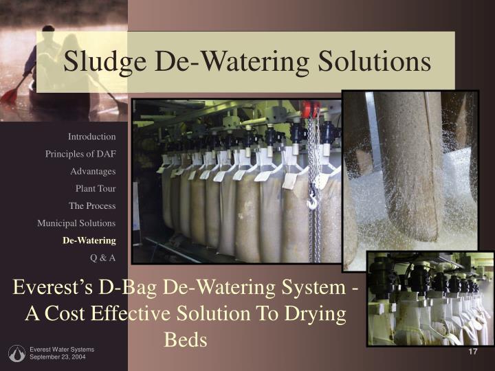 Sludge De-Watering Solutions