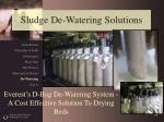 sludge de watering solutions