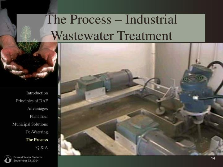 The Process – Industrial Wastewater Treatment
