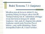 bukti teorema 7 1 lanjutan