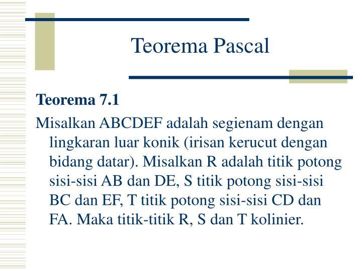 Teorema Pascal