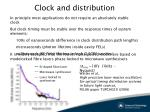 clock and distribution