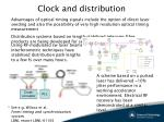 clock and distribution1