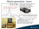 photon generation lasers