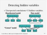 detecting hidden variables