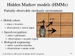 hidden markov models hmms
