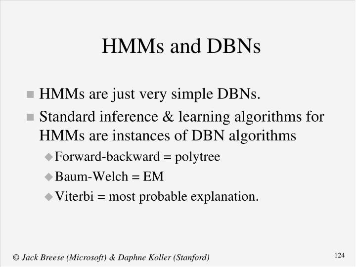 HMMs and DBNs