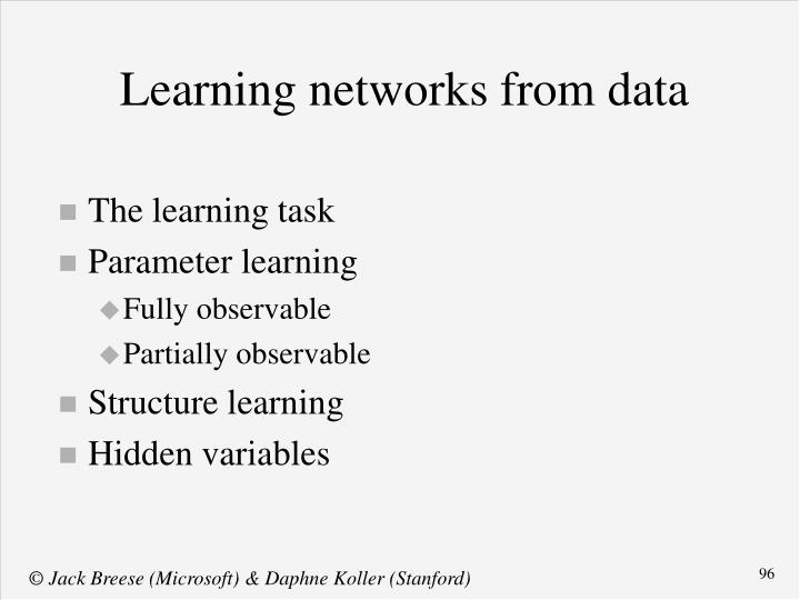 The learning task