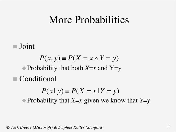 More Probabilities