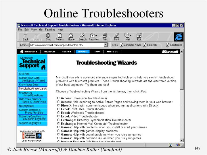 Online Troubleshooters