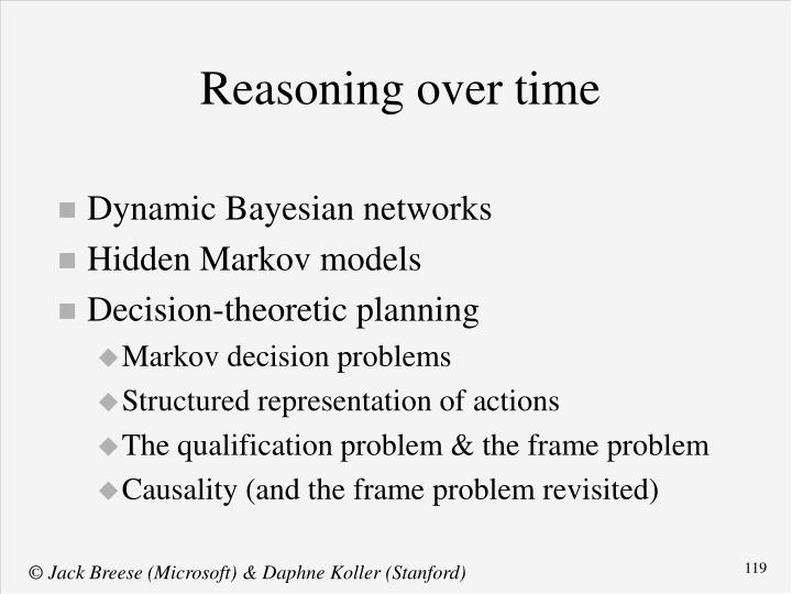 Reasoning over time