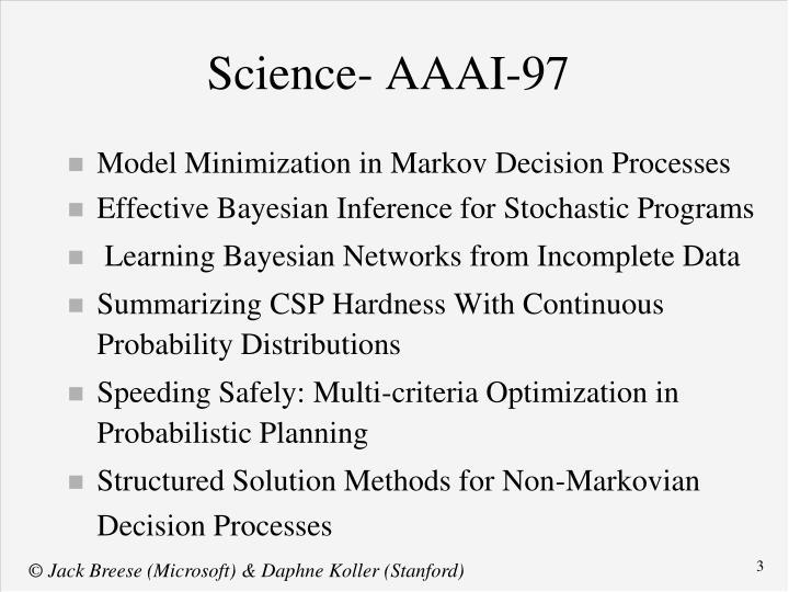 Science- AAAI-97