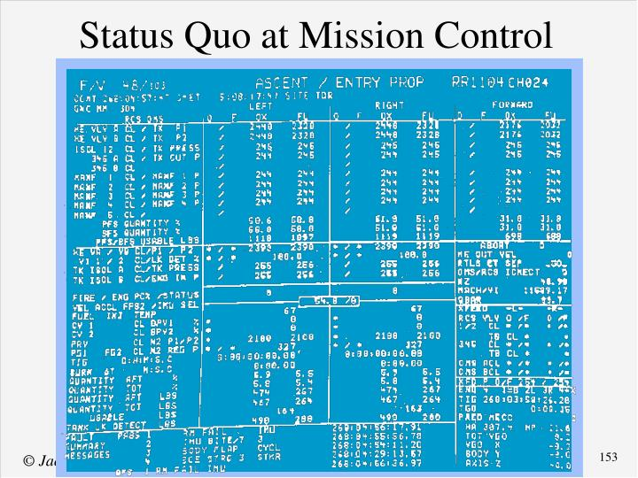 Status Quo at Mission Control