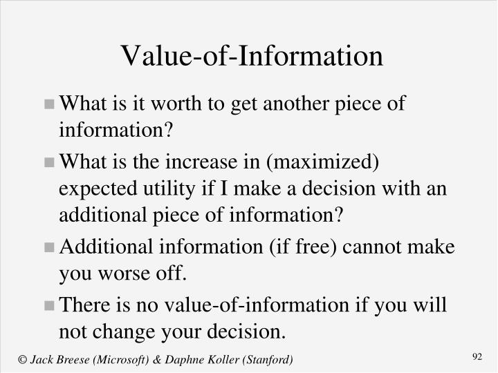 Value-of-Information