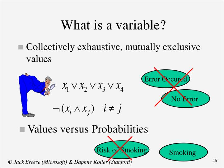 Values versus Probabilities