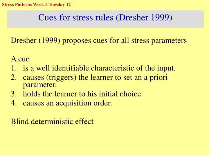 Stress Patterns Week I-Tuesday 12