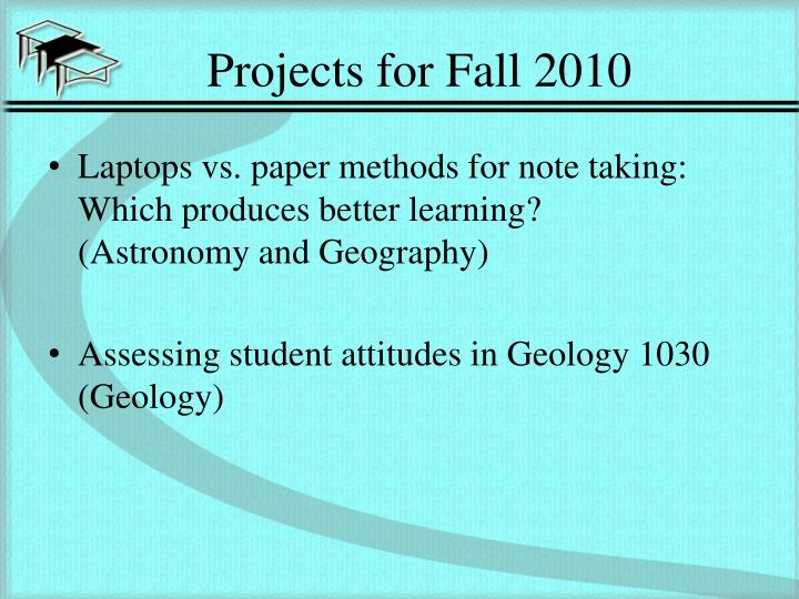 Projects for Fall 2010