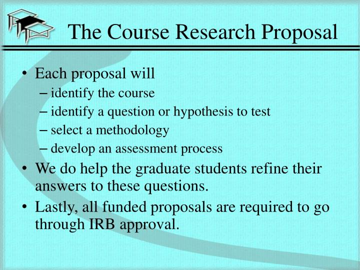 The course research proposal