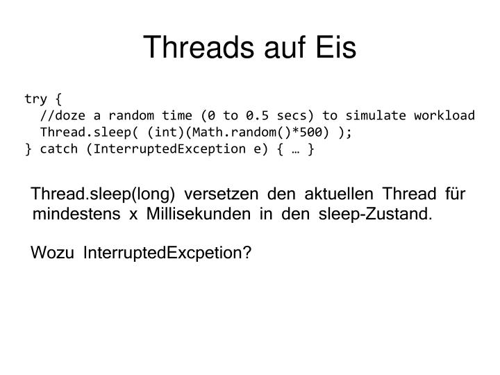 Threads auf Eis