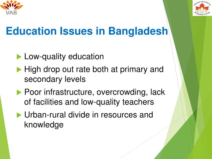 Education Issues in Bangladesh