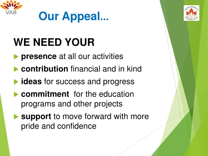 Our Appeal